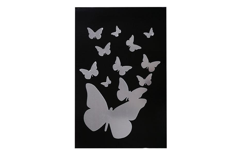 Samolepka ZRKADLO motýle