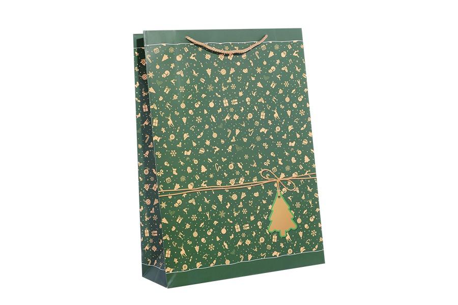 Vianočná taška XL zelená