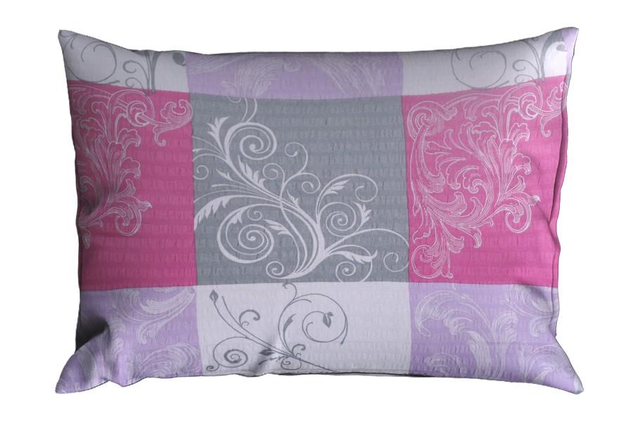 Krepová obliečka na vankúš 70x90 cm LATERA fialový