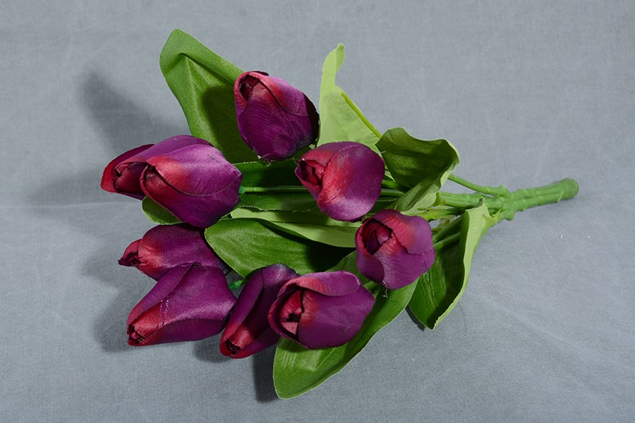 Zväzok umelých kvetín TULIPÁNY fialový