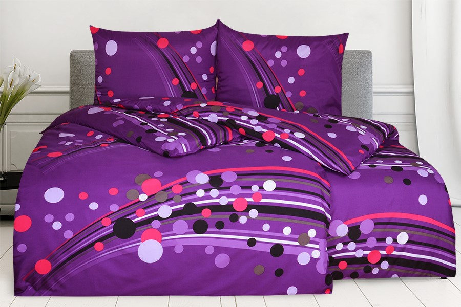 Obliečky z mikrovlákna s bavlneným efektom predľžené SAVADA fialové