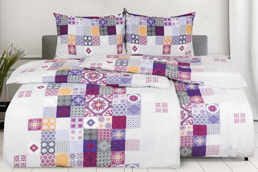 Krepové obliečky predľžené MANSIRA fialové