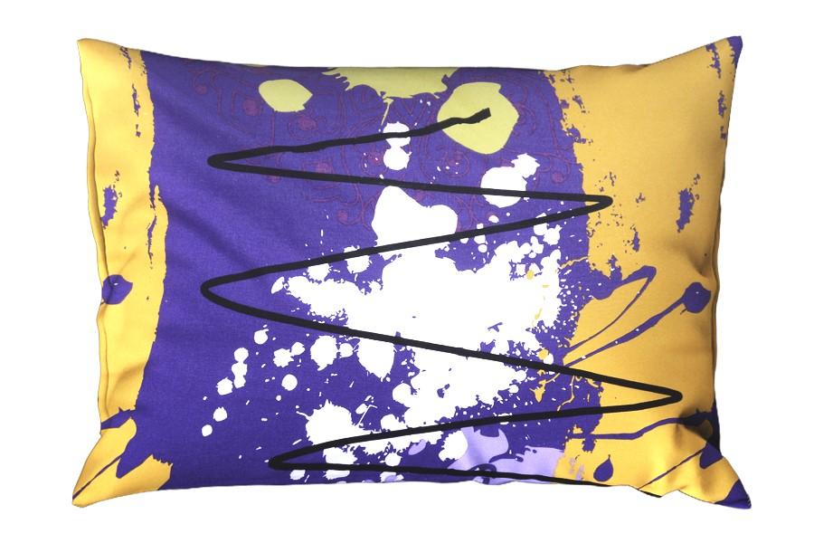 Bavlnená obliečka na vankúš RENFORCÉ 70x90 MIDELA fialová