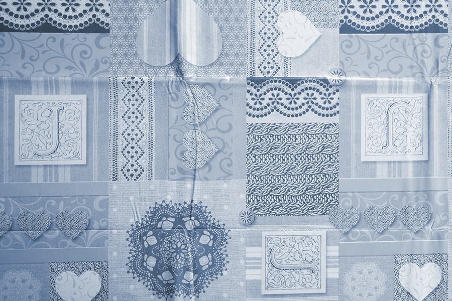 PVC obrus ZOVANA modrý 120x140 cm