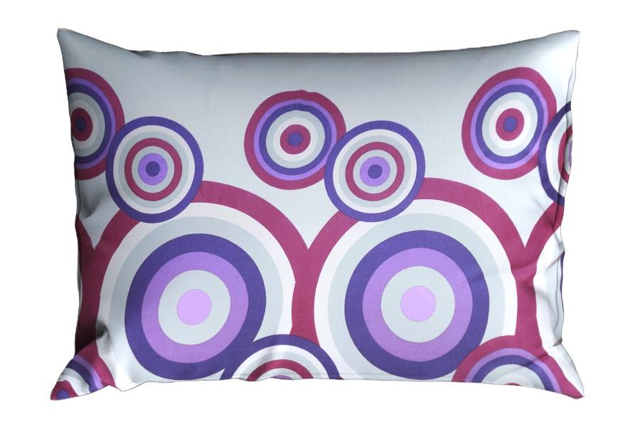 Bavlnená obliečka na vankúš RENFORCÉ 70x90 cm FIORA fialová