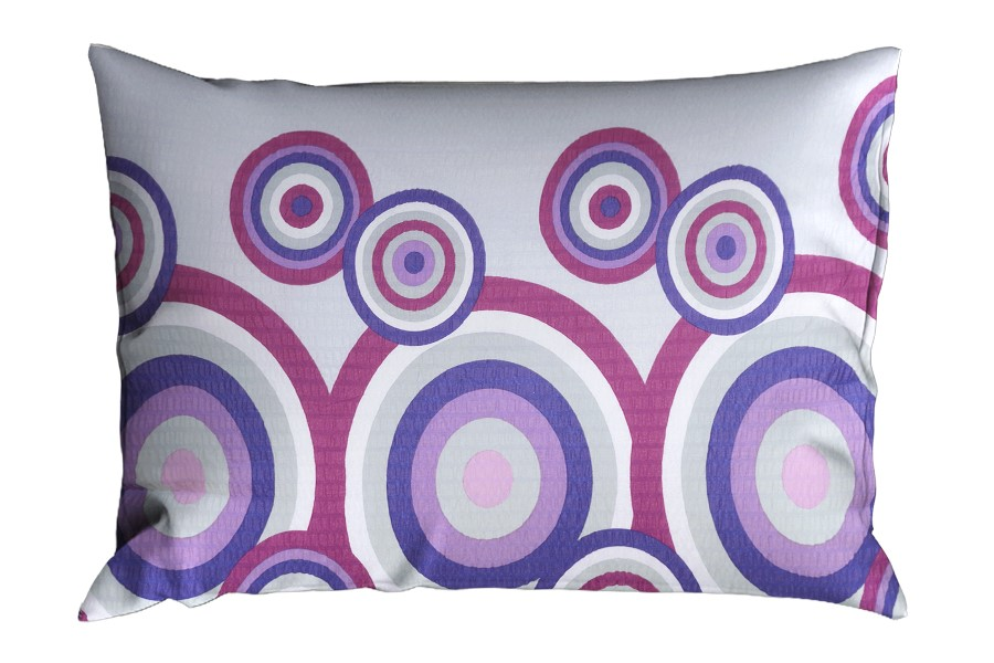 Krepová obliečka na vankúš RENFORCÉ 70x90 cm FIORA fialová