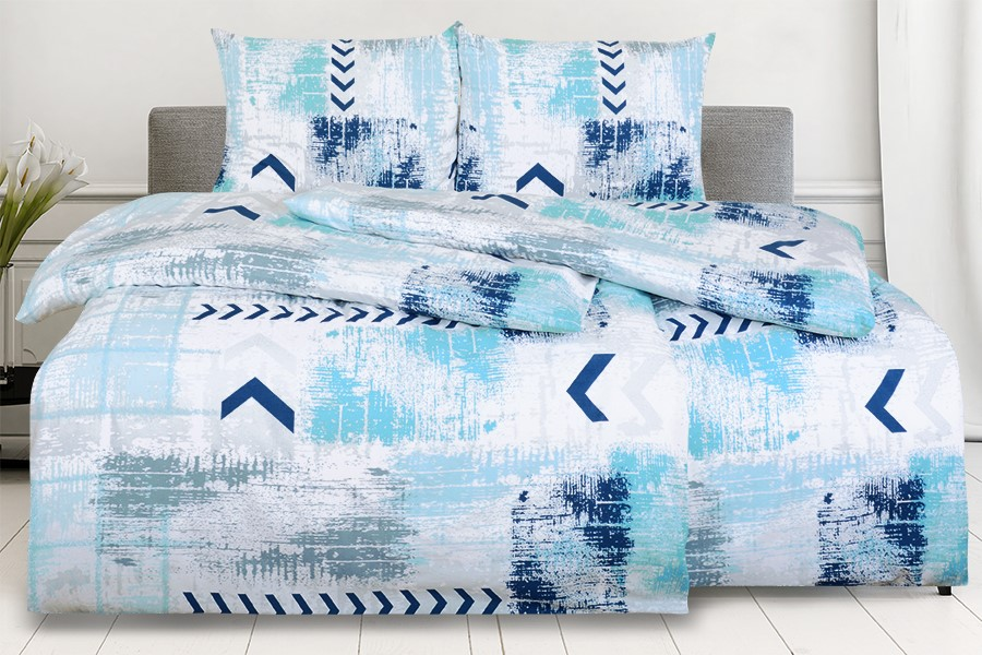 Bavlnené obliečky RENFORCÉ 4dielne SAGITA modré