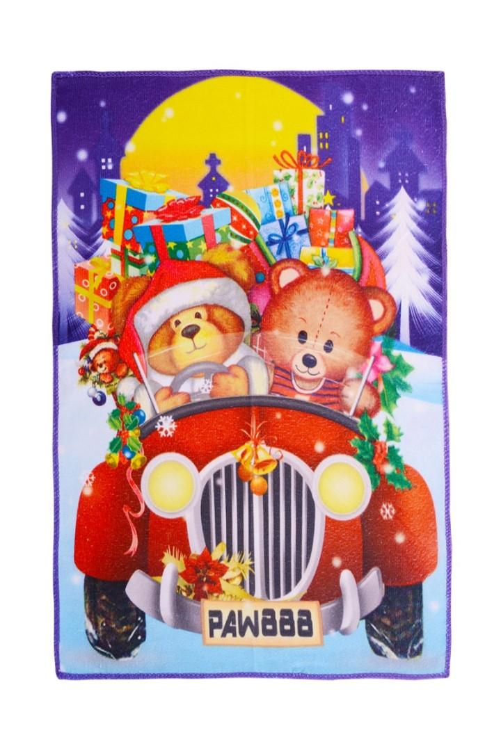 Vianočný uterák MEDVÍDCI V AUTE