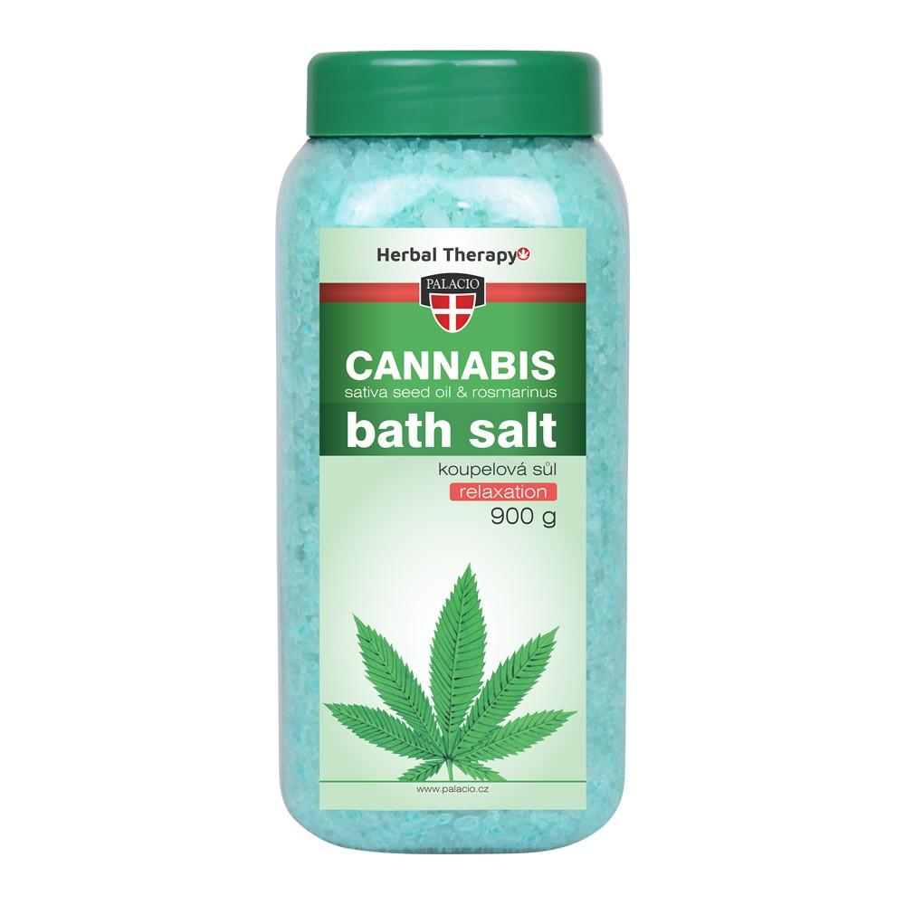 Konopná soľ do kúpeľa Cannabis Rosmarinus 900 g