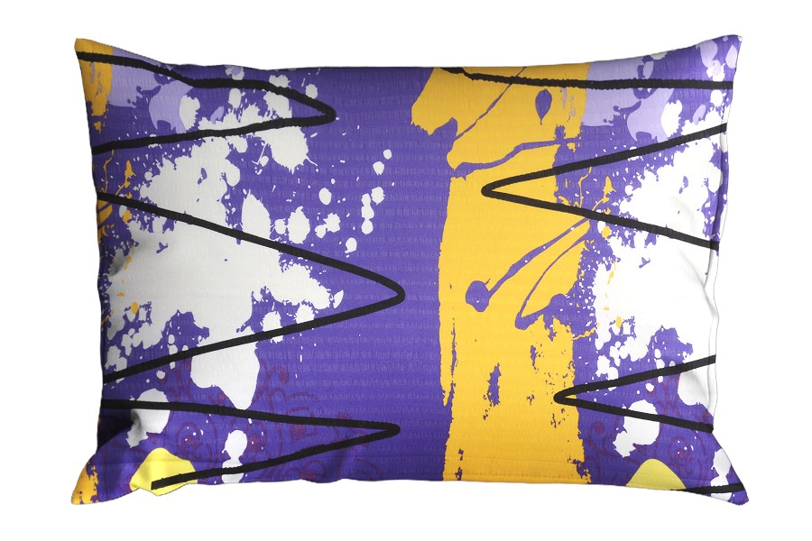 Krepová obliečka na vankúš RENFORCÉ 70x90 cm MIDELA fialová