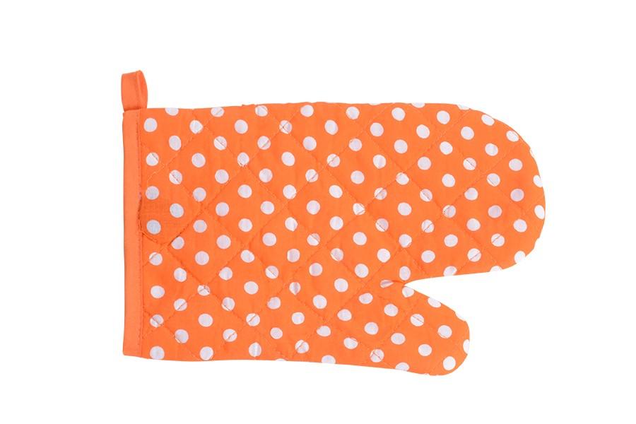 Kuchynská chňapka BODKY oranžová