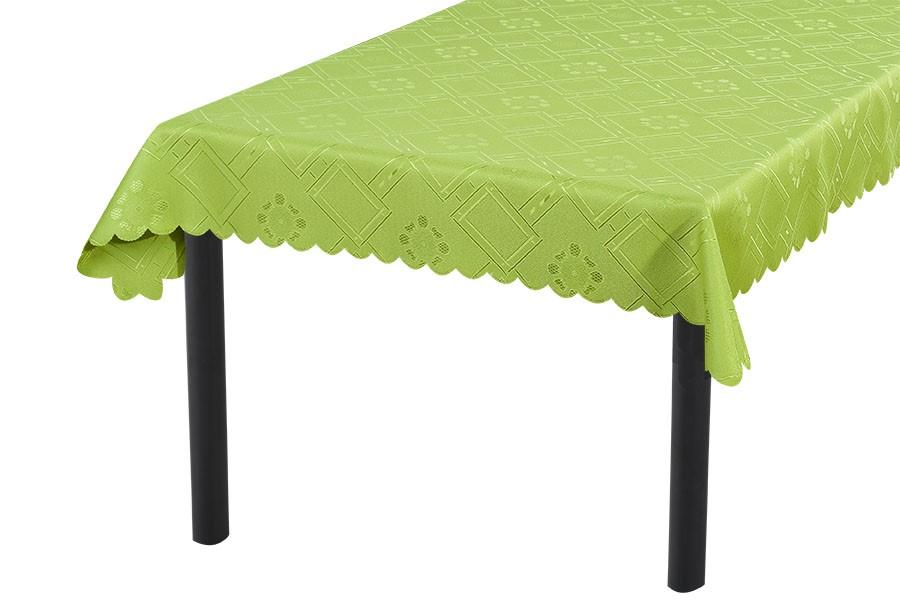 Žakárový obrus KUBE zelený 90x90 cm