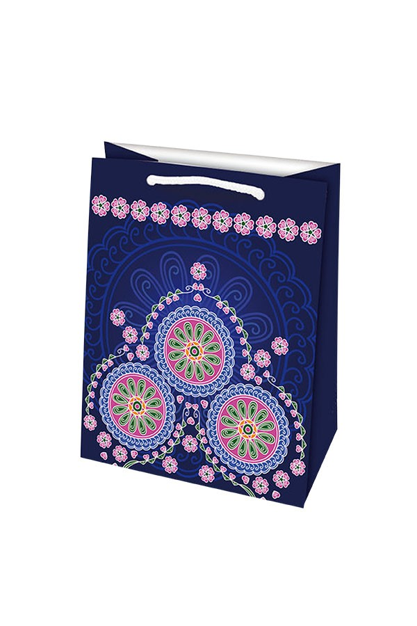 Darčeková taška M MANDALA fialová