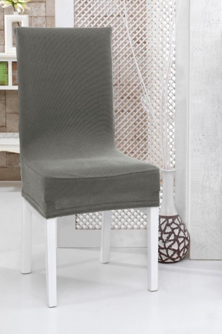 Napínacie poťah na stoličku s operadlom 2 ks šedý
