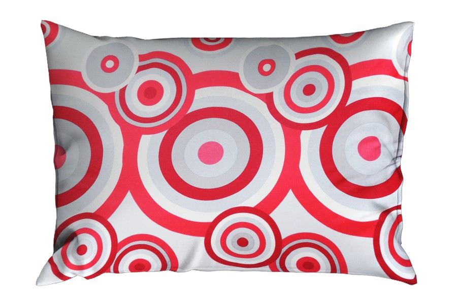 Bavlnená obliečka na vankúš RENFORCÉ 70x90 cm FIORA červená