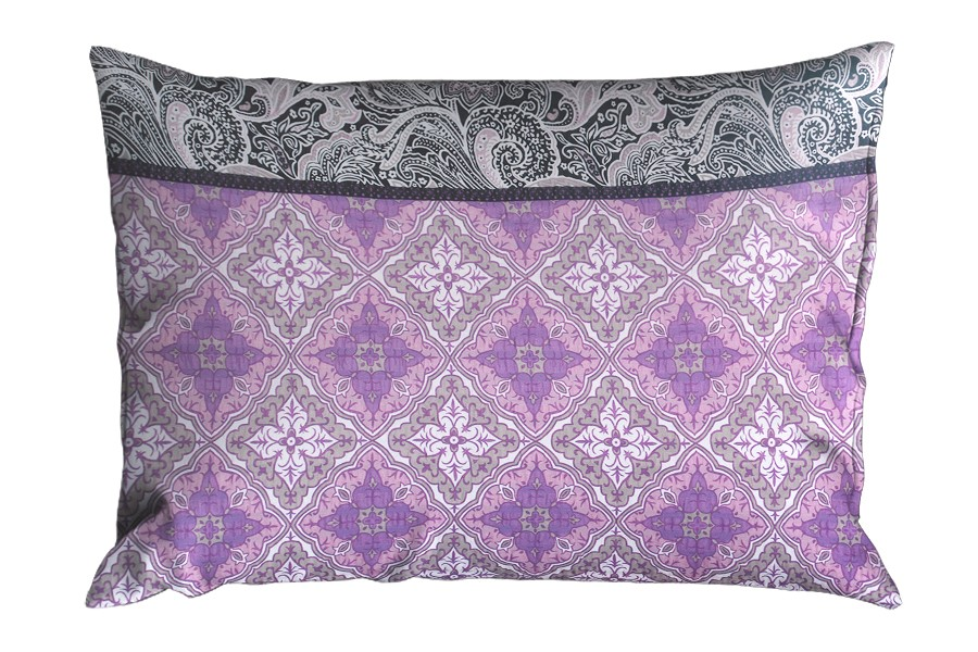Krepová obliečka na vankúš 70x90 cm LIBELA fialová