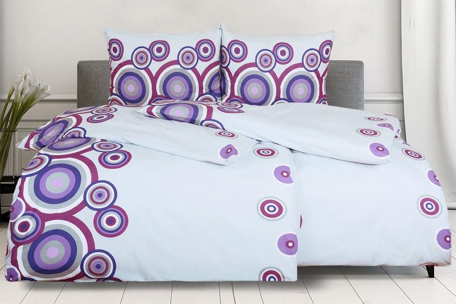 Bavlnené obliečky RENFORCÉ predlžené FIORA fialové