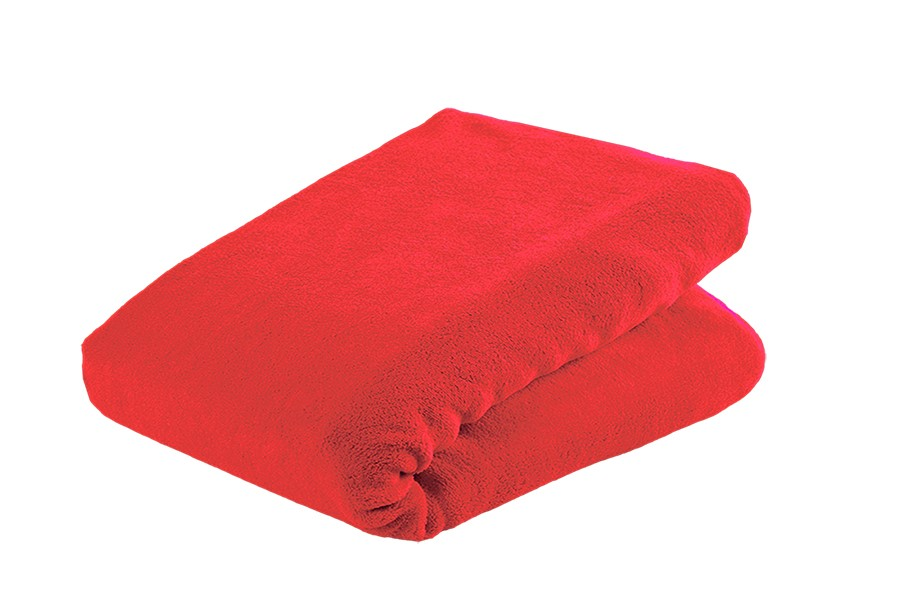 Prestieradlo mikroplyš MOA 90x200 cm červené