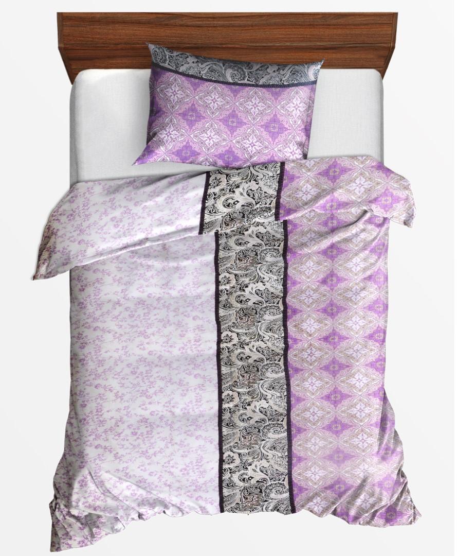 Krepové obliečky predľžené LIBELA fialové