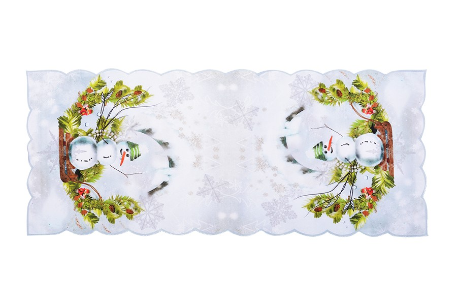 Vianočný obrus SNEHULIAK 38 x 85 cm
