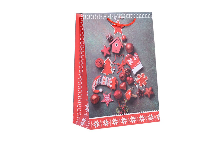 Vianočná taška L STROMČEK červená