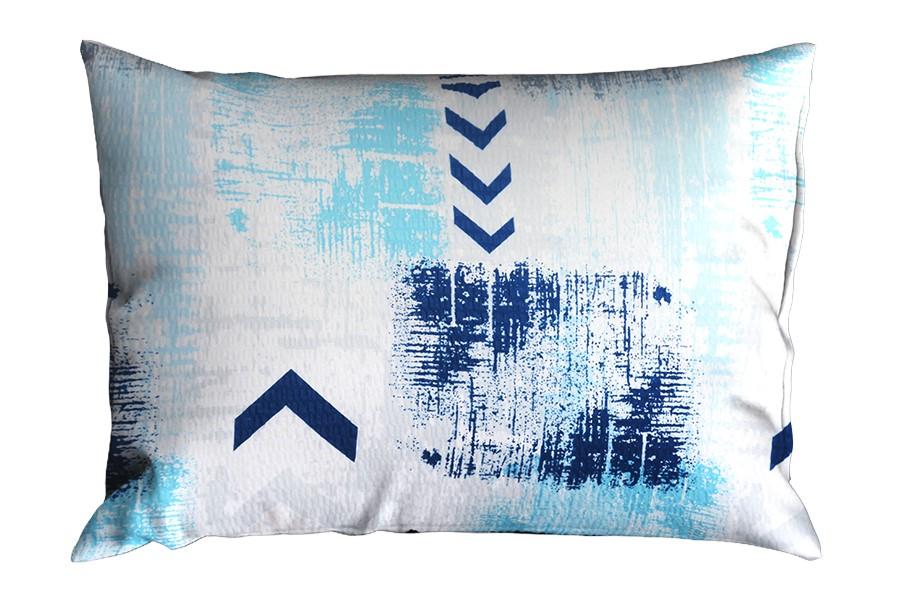 Krepová obliečka na vankúš RENFORCÉ 70x90 cm SAGITA modrá