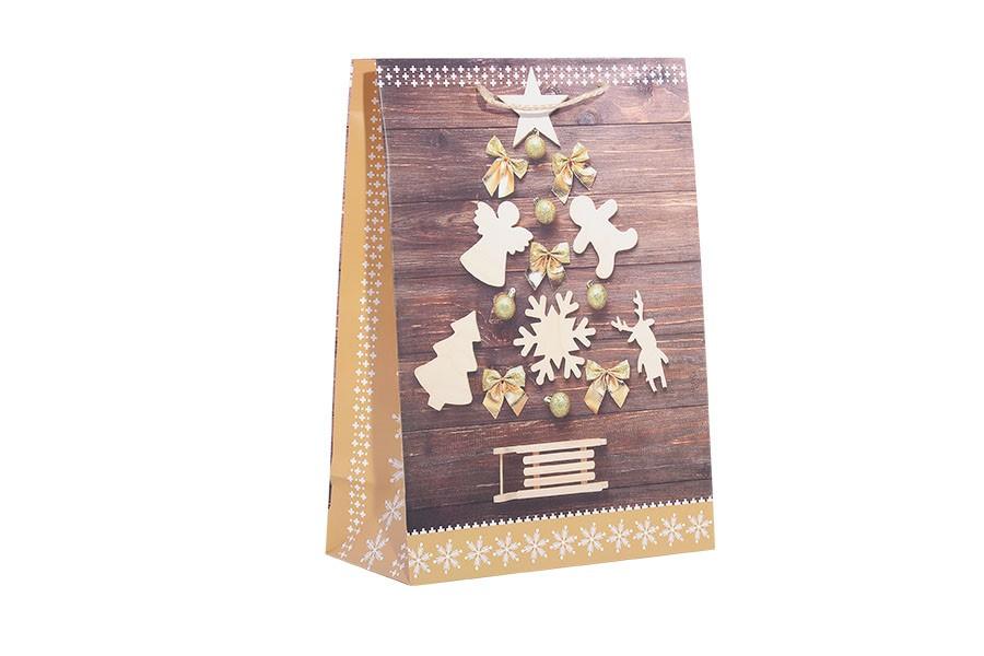 Vianočná taška L STROMČEK hnedá
