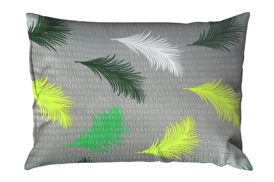 Krepová obliečka na vankúš 70x90 cm ABERA zelený