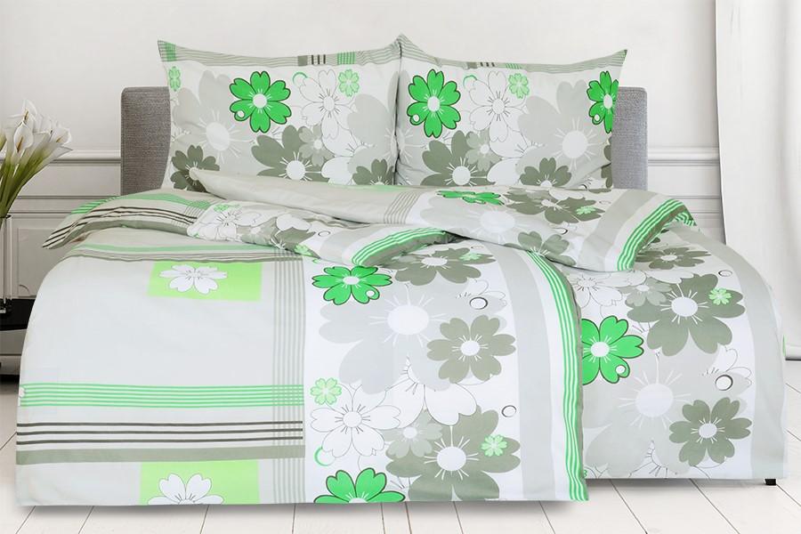 Bavlnené obliečky BASIC 4dielne FLOMA zelené