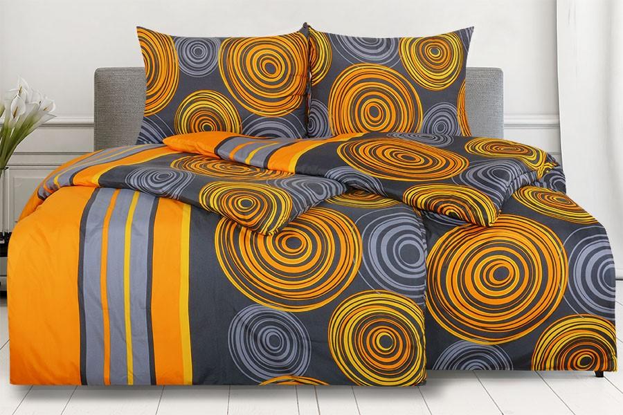 Obliečky z mikrovlákna s bavlneným efektom predĺžené AMBELA oranžové