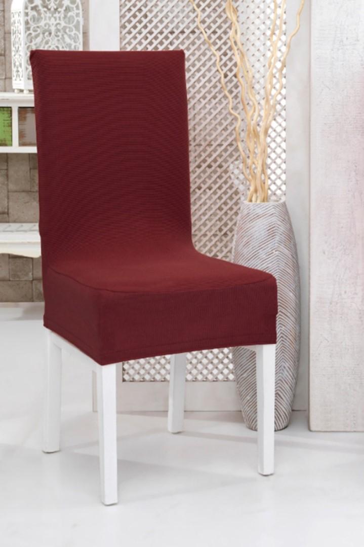 Napínacie poťah na stoličku s operadlom 2 ks vínový