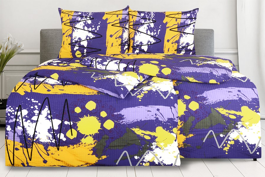 Krepové obliečky RENFORCÉ MIDELA fialové