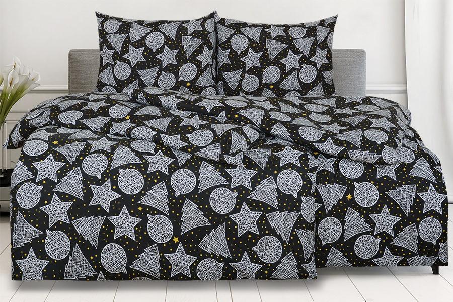 Obliečky z mikrovlákna s bavlneným efektom predľžené KRISTA čierne