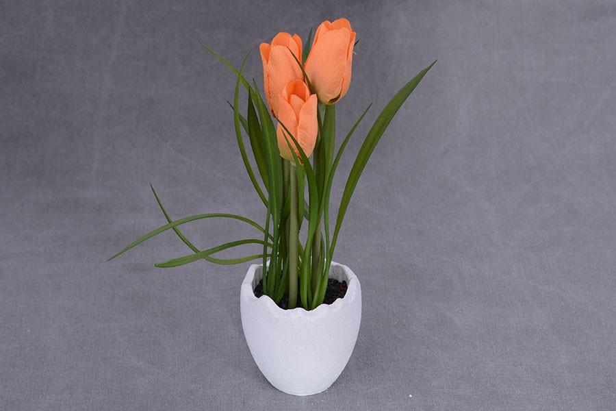 Umelé kvety TULIPÁNY VAJÍČKO oranžové