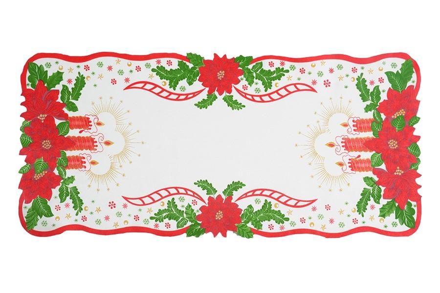 Vianočný obrus SVIECE 38x85 cm