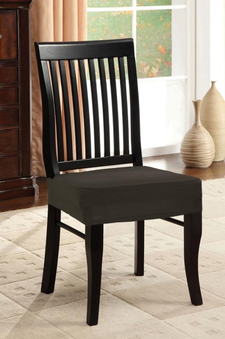 Napínacie poťah na stoličku bez operadla 2 ks hnedý
