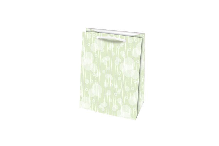 Darčeková taška M ABSTRAKT zelená