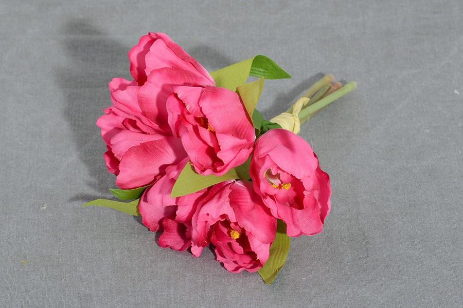 Zväzok umelých kvetín TULIPÁNY ružový