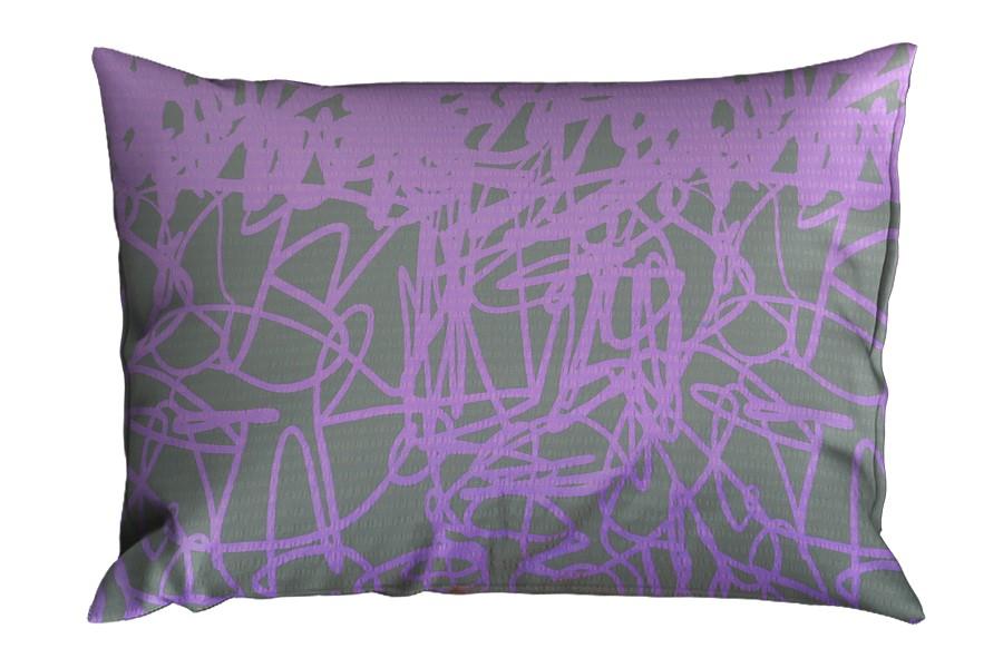 Krepová obliečka na vankúš 70x90 cm DISELA fialová