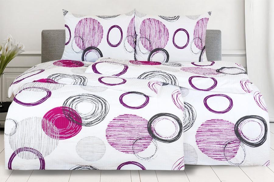 Krepové obliečky RENFORCÉ predlžené BARCELONA fialové