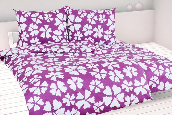 Bavlnené obliečky predľžené WALIKA fialové