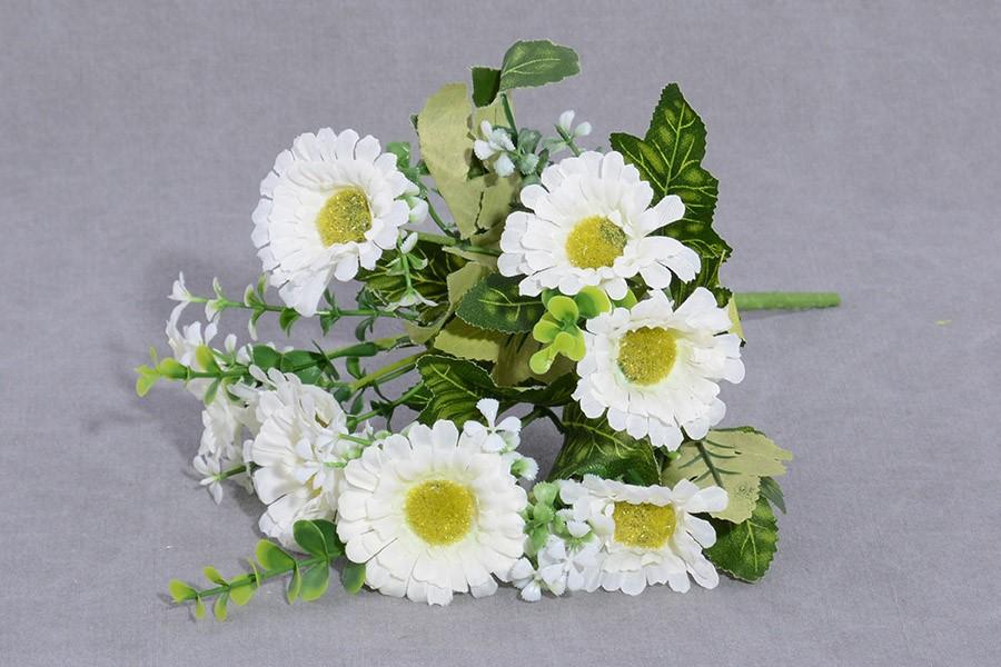 Umelé kvety GERBERA biela