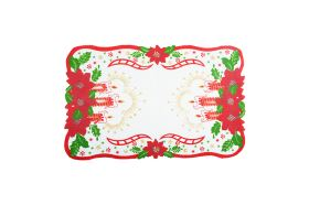 Vianočný stredový obrus SVIECE 28x43 cm