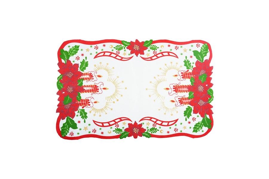 Vianočný obrus SVIECE 28x43 cm