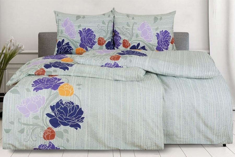 Bavlnené obliečky predľžené AGLIA fialové